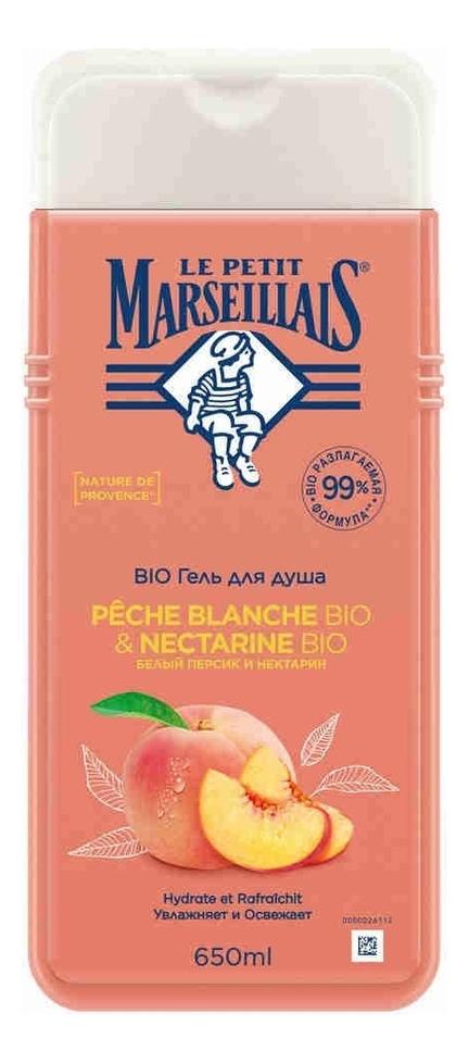Купить Гель для душа Белый персик и нектарин Gel Douche Peche Blanche & Nectarine: Гель 650мл, Гель для душа Белый персик и нектарин Gel Douche Peche Blanche & Nectarine, Le Petit Marseillais