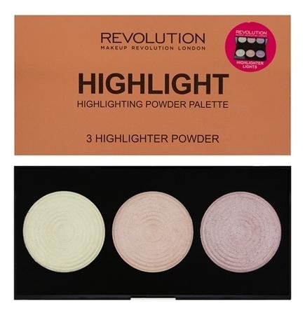 Палетка хайлайтеров Highlighter Palette 11,5г: Highlight
