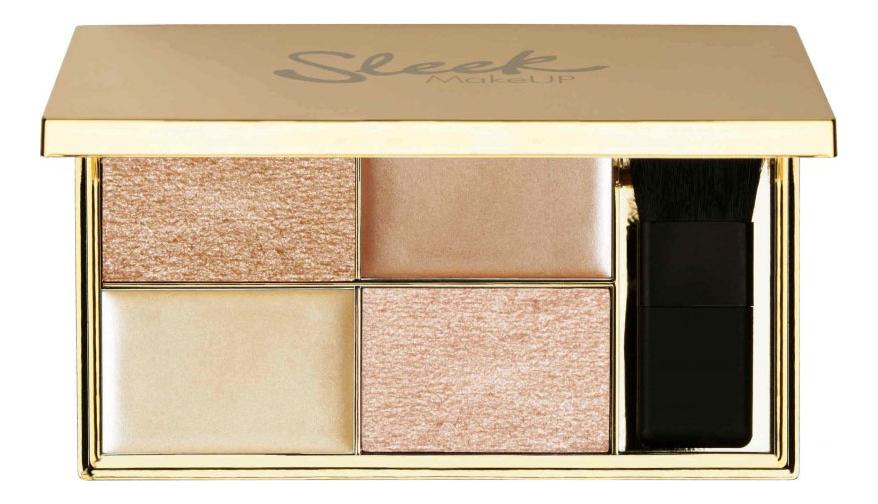 Палетка хайлайтеров Highlighting Palette 9г: Cleopatra's Kiss sleek makeup quattro eye shadow medussa s kiss палетка теней тон 331
