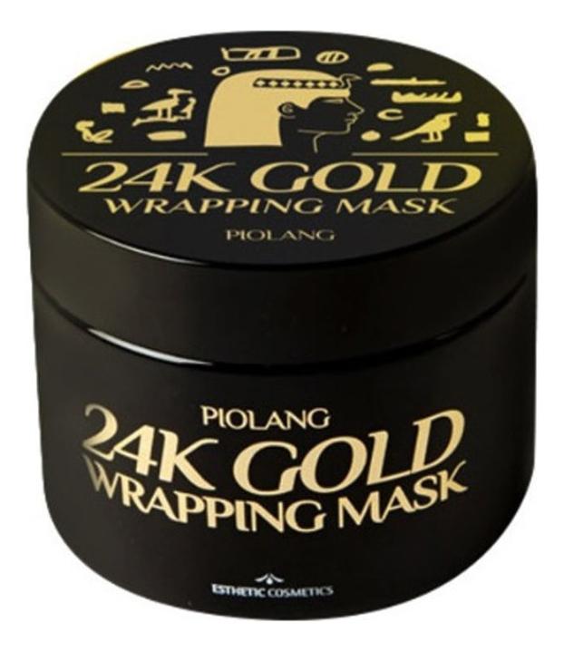 Маска для лица с 24 каратным золотом Piolang 24K Gold Wrapping Mask 80мл недорого