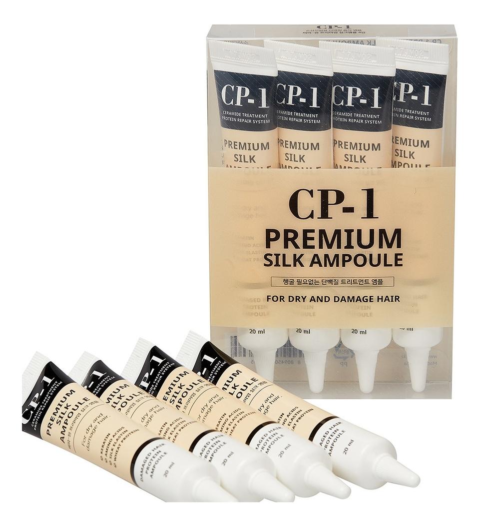 Купить Несмываемая сыворотка для волос с протеинами шелка CP-1 Premium Silk Ampoule 4*20мл: Сыворотка 4*20мл, Esthetic House