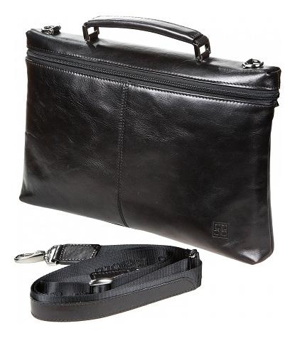 Купить Портфель Milano Black 9308 (черный), Sergio Belotti
