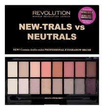 Makeup Revolution Палетка для теней New-Trals vs Neutrals Palette 16г