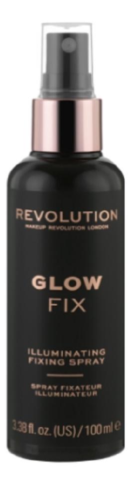 Купить Спрей для фиксации макияжа Illuminating Fixing Spray 100мл, Makeup Revolution