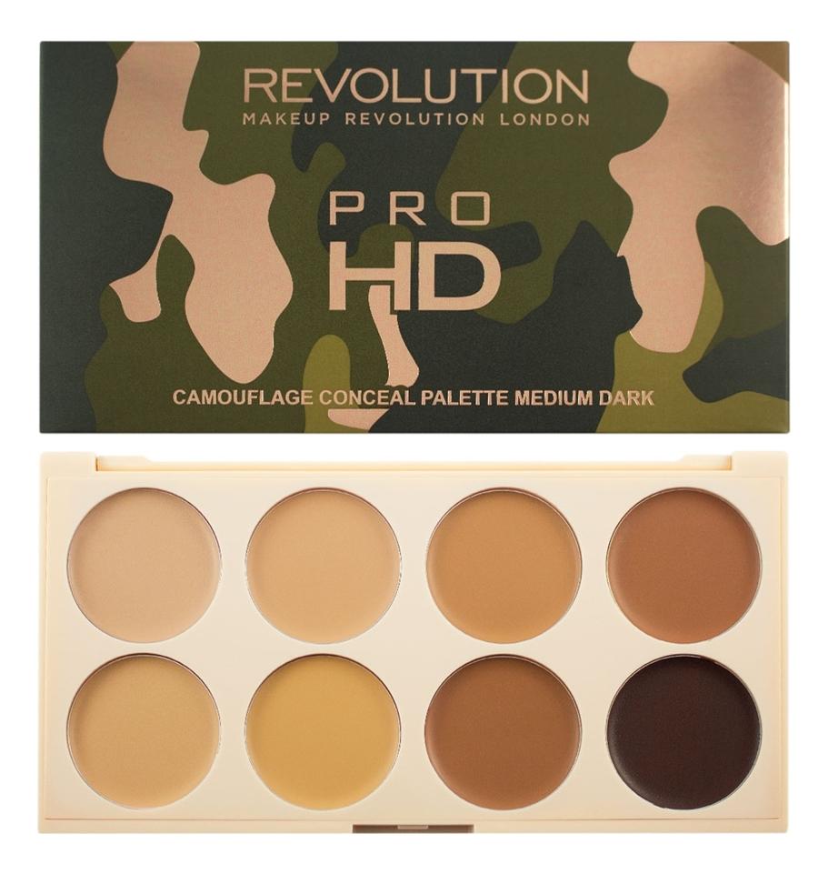 Палетка консилеров для лица Ultra Pro HD Camouflage 10г: Medium Dark