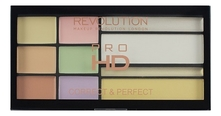 Makeup Revolution Палетка корректоров Pro HD Correct and Perfect Palette 16,5г