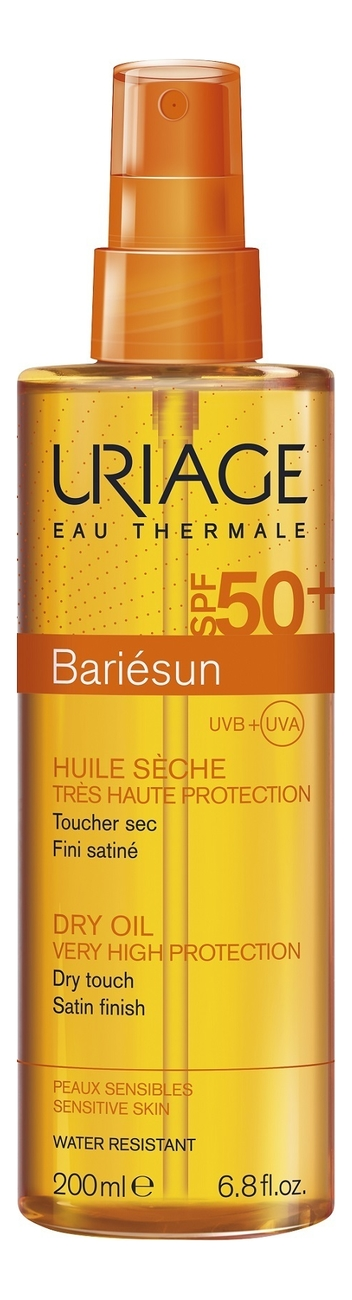 Солнцезащитное сухое масло-спрей для лица и волос Bariesun Huile Seche SPF50+ 200мл uriage bariesun fragrance free spray spf50 спрей без ароматизаторов 200 мл