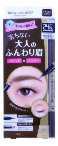 Водостойкая жидкая подводка для бровей + пудра карандаш Brow Lash Rich: Коричневый водостойкая подводка для глаз brow lash ex насыщенный черный