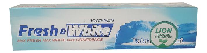 Зубная паста отбеливающая супер Прохладная мята Fresh & White 160г