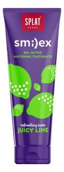 Зубная паста для подростков 12+ Сочный лайм Smilex Juicy Lime 100г splat зубная паста тутти фрутти tutti frutt juicy 35 мл