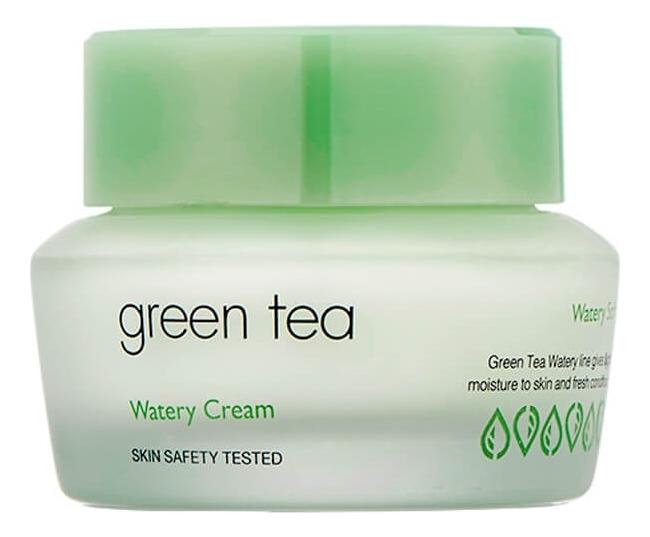 Фото - Крем для лица с экстрактом зеленого чая Green Tea Watery Cream 50мл крем для тела с экстрактом зверобоя и маслом ройбоша skin nourishing body cream крем 50мл