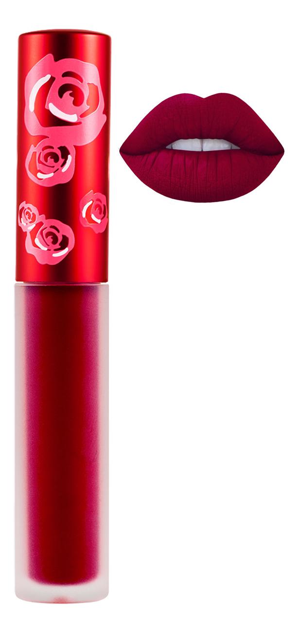 Жидкая матовая помада Velvetines Liquid Matte Lipstick 2,6мл: Red Rose жидкая матовая помада velvetines liquid matte lipstick 2 6мл elle