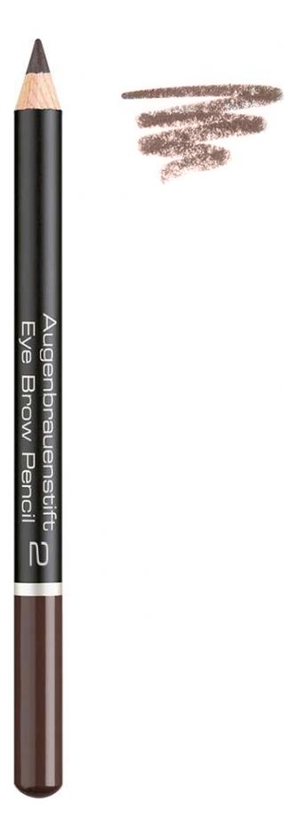 Карандаш для бровей Augenbrauenstift Eye Brow Pencil 1,1г: 2 Intensive Brown artdeco карандаш для бровей eye brow pencil тон 6 1 1 г