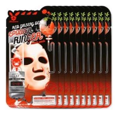 Купить Тканевая маска для лица с экстрактом красного женьшеня Red Ginseng Deep Power Ringer Pack Mask: Маска 10*23мл, Elizavecca