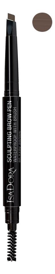 Карандаш для бровей Sculpting Brow Pen Waterproof With Brush 0,2г: 82 Medium Brown