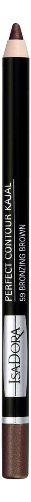 Купить Карандаш для век Perfect Contour Kajal 1, 2г: 59 Bronzing Brown, IsaDora