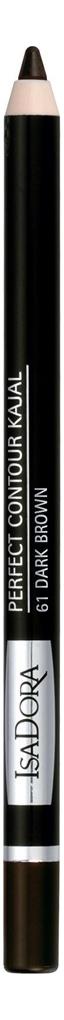Карандаш для век Perfect Contour Kajal 1,2г: 61 Dark Brown фото