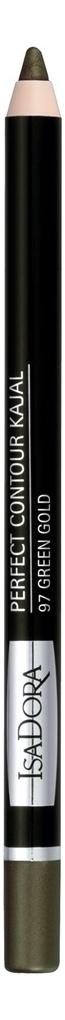 Купить Карандаш для век Perfect Contour Kajal 1, 2г: 97 Green Gold, IsaDora