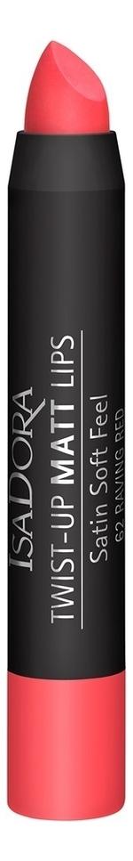 Помада-карандаш для губ матовая Twist-Up Matt Lips 3,3г: 62 Raving Red недорого