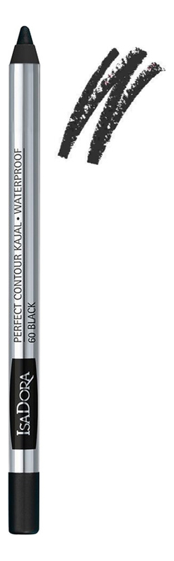 цена на Карандаш для век водостойкий Perfect Contour Kajal Waterproof 1,2г: 60 Black
