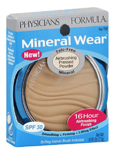 Physicians Formula Минеральная пудра Mineral Wear Talc-Free Mineral Airbrushing Pressed Powder SPF30 7,5г