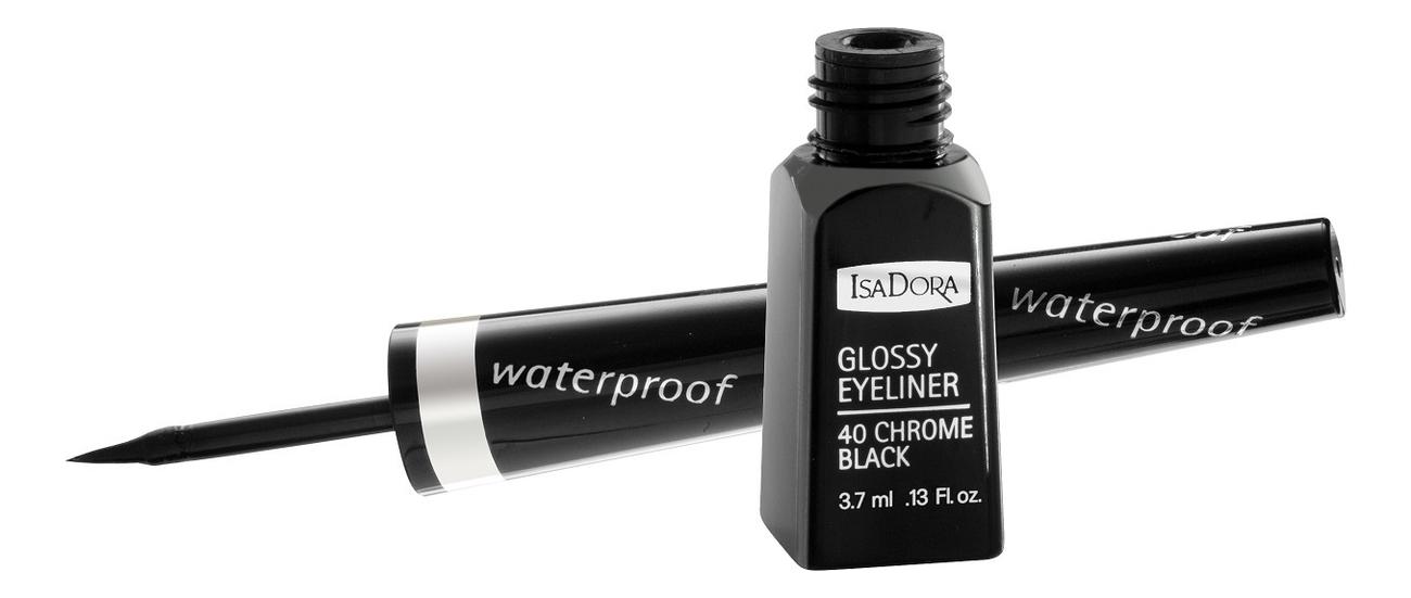 Купить Подводка для век водостойкая Glossy Eyeliner 3, 7мл: 40 Chrome Black, IsaDora