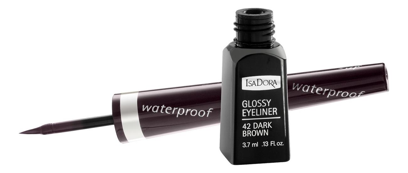 Купить Подводка для век водостойкая Glossy Eyeliner 3, 7мл: 42 Dark Brown, IsaDora