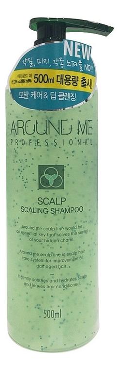 Отшелушивающий шампунь-скраб для волос и кожи головы Around Me Scalp Scaling Shampoo 230мл