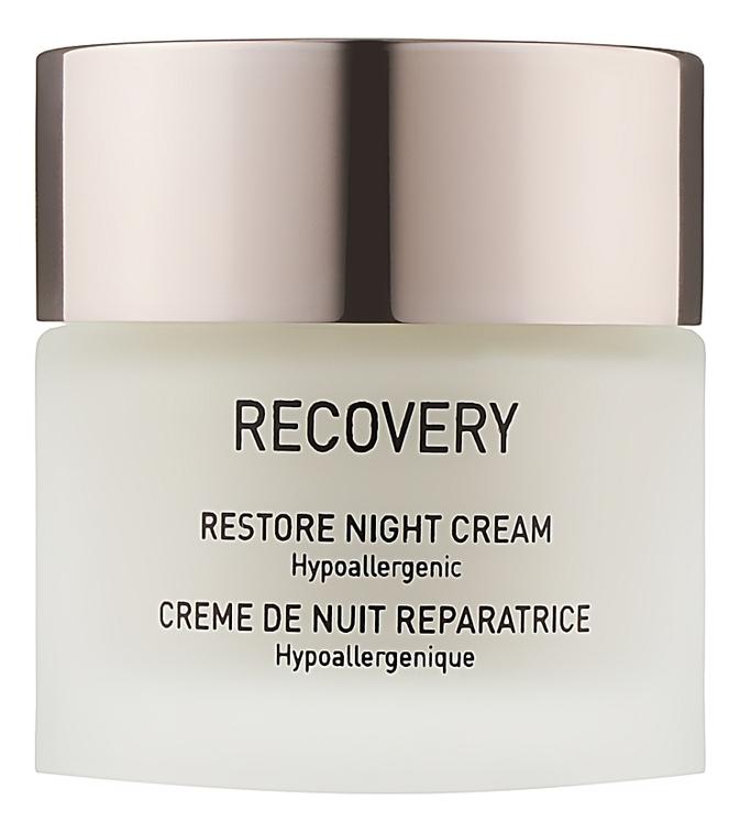 Восстанавливающий ночной крем для лица Recovery Restore Night Cream Hypoallergenic 50мл: Крем 50мл