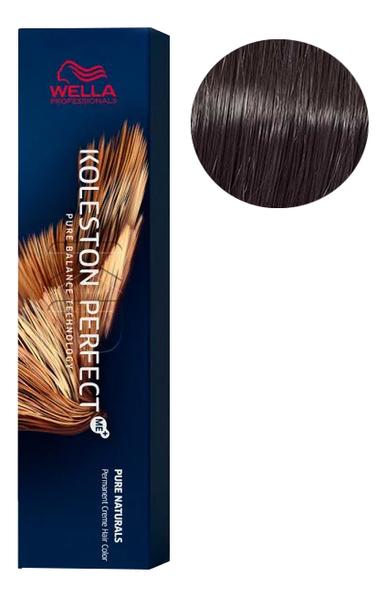 Фото - Стойкая крем-краска для волос Koleston Perfect Color Pure Naturals 60мл: 44/0 Коричневый интенсивный стойкая крем краска для волос koleston perfect color pure naturals 60мл 8 04 яркий закат