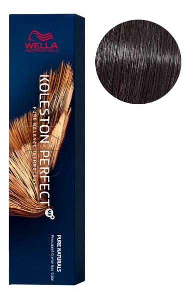 Купить Стойкая крем-краска для волос Koleston Perfect Color Pure Naturals 60мл: 33/0 Темно-коричневый интенсивный, Wella