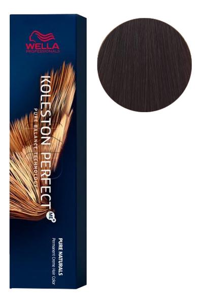 Фото - Стойкая крем-краска для волос Koleston Perfect Color Pure Naturals 60мл: 5/07 Кедр стойкая крем краска для волос koleston perfect color pure naturals 60мл 8 04 яркий закат