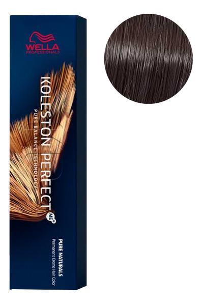 Фото - Стойкая крем-краска для волос Koleston Perfect Color Pure Naturals 60мл: 4/0 Чистый коричневый стойкая крем краска для волос koleston perfect color pure naturals 60мл 8 04 яркий закат