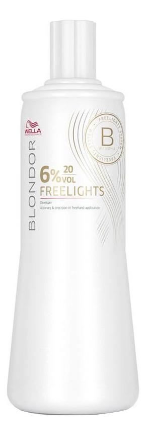 Окислитель для волос Blondor Freelights 1000мл: Окислитель 6% недорого