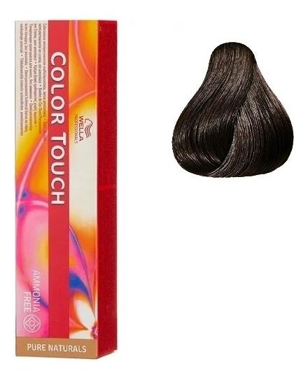 Краска для волос без аммиака Color Touch Pure Naturals 60мл: 4/0 Коричневый
