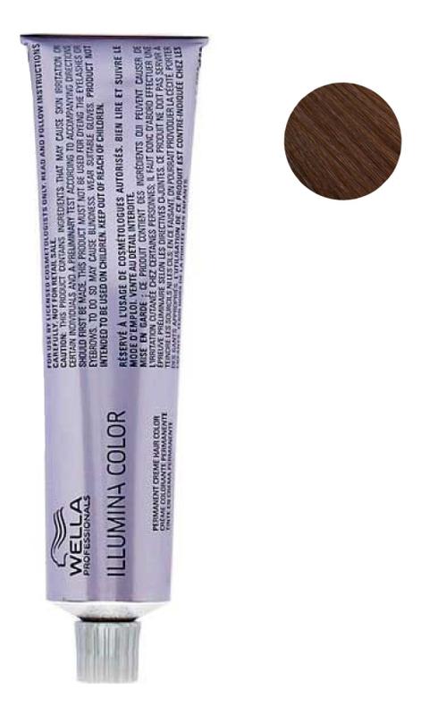 Стойкая крем-краска для волос Illumina Color 60мл: 6/37 Темный блонд золотисто-коричневый wella кисточка illumina для окраски 6 см антрацит щетка large