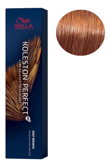 Стойкая крем-краска для волос Koleston Perfect Color Deep Browns 60мл: 8/74 Ирландский красный