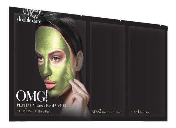 Маска для лица трехкомпонентная Platinum Facial Mask: Green