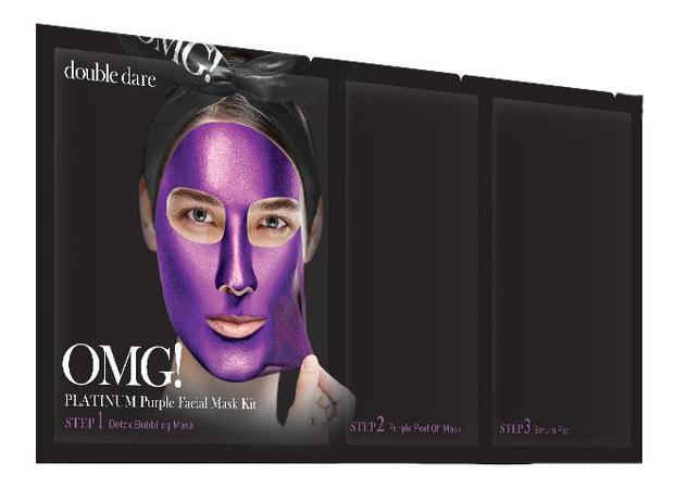 Маска для лица трехкомпонентная Platinum Facial Mask: Purple