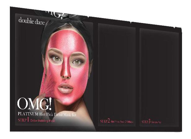Маска для лица трехкомпонентная Platinum Facial Mask: Hot Pink