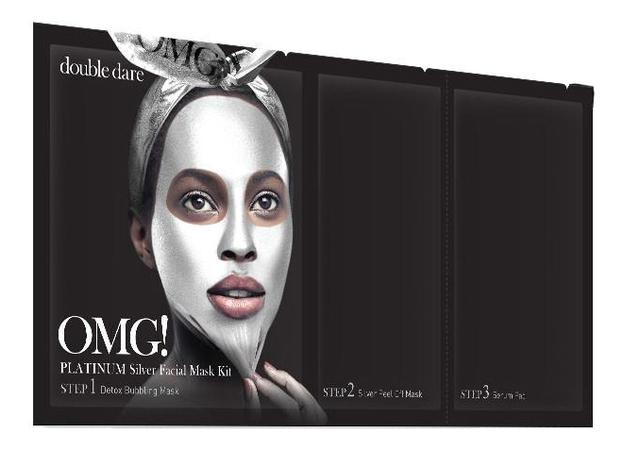 Маска для лица трехкомпонентная Platinum Facial Mask: Silver