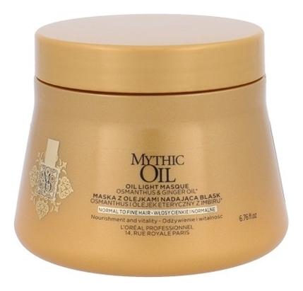 Маска для тонких волос с экстрактом османтуса и маслом имбиря Mythic Oil Masque Light: Маска 200мл