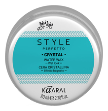 KAARAL Воск для волос с блеском Style Perfetto Crystal Water Wax 80мл