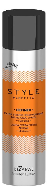 Купить Лак для волос экстрасильной фиксации Style Perfetto Definer Extra Strong Hold Spray 350мл (без газа), KAARAL