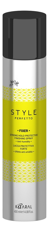 Защитный лак для волос сильной фиксации Style Perfetto Fixer Strong Hold Protective Finishing Spray 400мл: Лак 400мл недорого