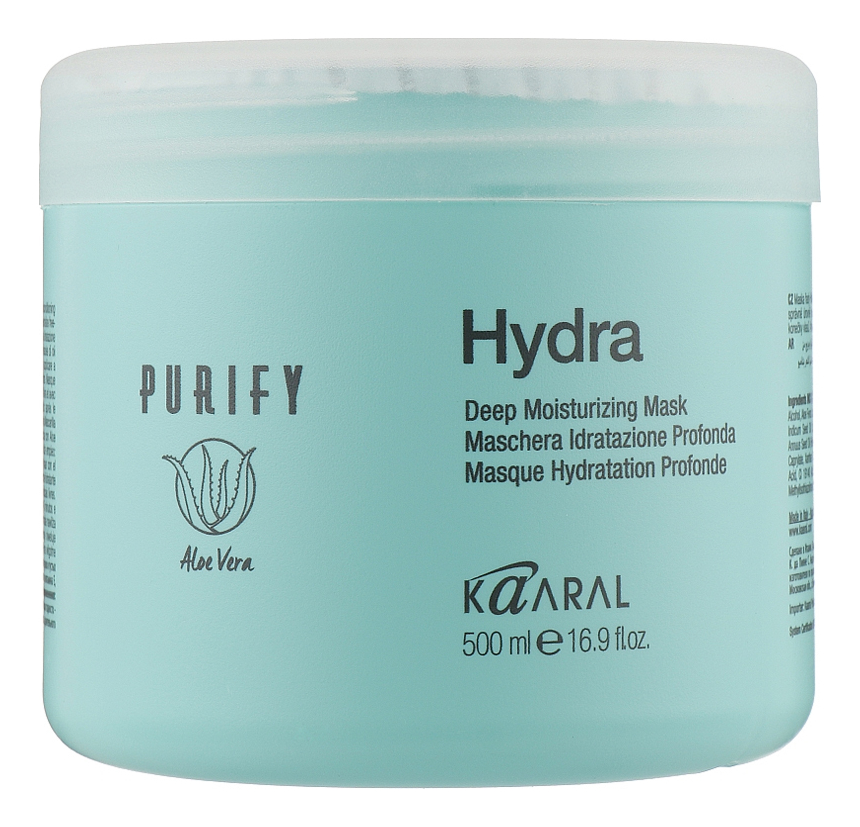 Купить Интенсивная увлажняющая питательная маска для волос Нydra Purify Deep Moisturizing Mask 500мл, KAARAL