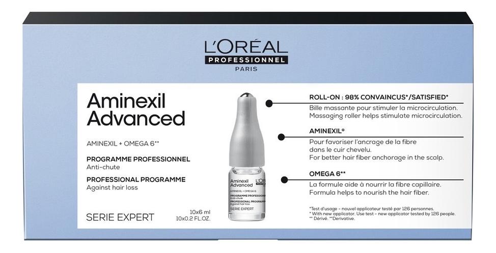 Средство против выпадения волос Serie Expert Aminexil Advanced 10*6мл: Средство 10*6мл эффективное средство против выпадения волос