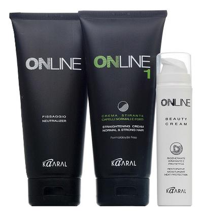 Выпрямляющий крем для нормальных и крепких волос Online Hair Straightening System 1 445мл