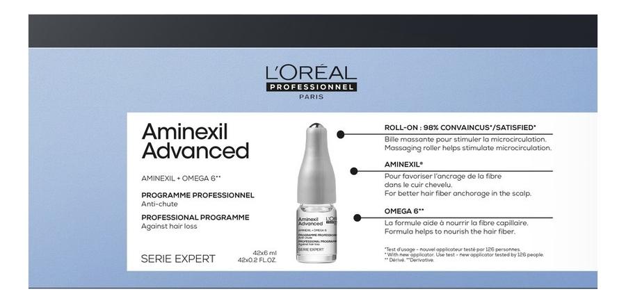 Средство против выпадения волос Serie Expert Aminexil Advanced 42*6мл: Средство 42*6мл эффективное средство против выпадения волос
