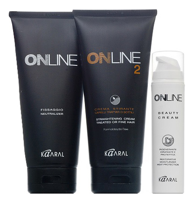 Выпрямляющий крем для окрашенных и слабых волос Online Hair Straightening System 2 445мл